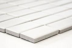 mosaico in ceramica colore bianco forma rettangolare opaco