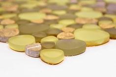 mosaico vetro a gocce beige