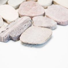 mosaico sasso piatto mix beige
