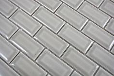 mosaico rettangolare mattoncini in ceramica diamantato grigio