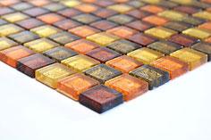 mosaico vetro tessera 23mm foglia oro mix