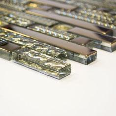 Mosaico Riflessi Brick Gold in vendita online da Mosaix