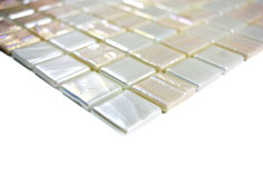 Mosaico ECO MOS 25/25 mm BIANCO PERLATO 3D