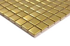mosaico metallo effetto oro