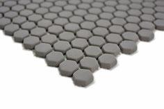 mosaico esagonale vetro tessera 15mm grigio
