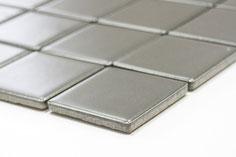 mosaico in ceramica colore grigio forma quadrata 48mm opaco