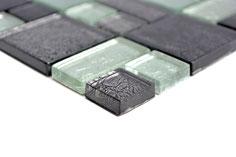 mosaico vetro tessera 23/48mm foglia argento
