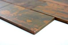 mosaico metallo rame