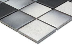mosaico ceramica antiscivolo per piscina, bagno colore mix grigio