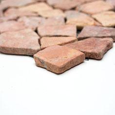 Mosaico Palladiana Marmo Rosso Verona su rete