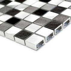 Mosaico 15mm in Alluminio Mix Cold