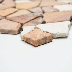 mosaico palladiana marmo mix rosso verona crema 5,60€/foglio