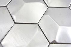 mosaico 3D esagono in metallo