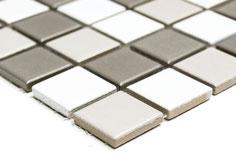 mosaico in ceramica mix bianco grigio antracite opaco
