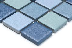 mosaico ceramica per piscina antiscivolo mix azzurro