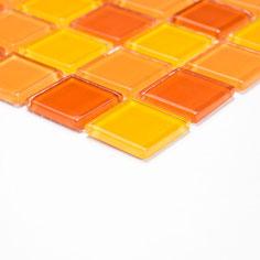 Mosaico CRYSTAL MIX GIALLO ARANCIO Vetro lucido