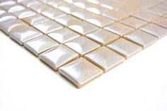 Mosaico ECO MOS 25/25 mm BEIGE PIRAMIDE 3D