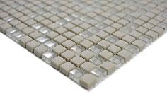 mosaico vetro tessera 10mm beige