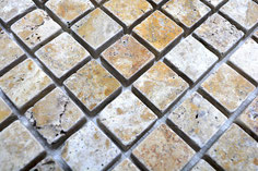 mosaico marmo Travertino Gold