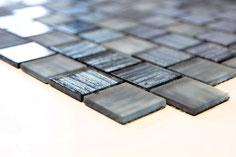 mosaico vetro tessera 30mm foglia argento