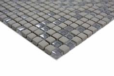 mosaico vetro tessera 10mm grigio