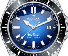 EDOX SKYDIVER NEPTUNIAN SWISS MADE WATCH