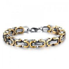 Königskette Silber-Gold (bicolor) Armband sowie Halsketten für Männer.