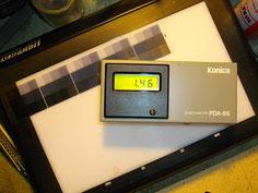 mesure de densité optique pour l'échelle de gris
