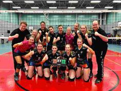 Glückliche DSCity Girls nach dem 3-Punkte-Sieg in Herten