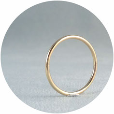 simple ring rosegold schlichter Ring roségold rotgold Gold