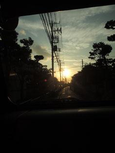 あの夕陽に向かって・・