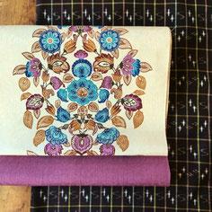 紬の紅型帯と紬の琉球絣