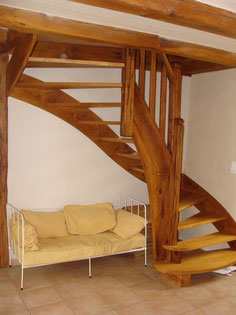 escalier en bois de chêne