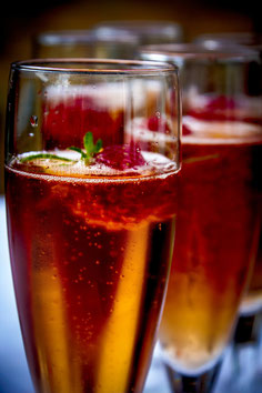 Cocktail champagne framboise