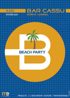 Van Bun Communicatie & Vormgeving - Grafisch ontwerp - Lommel - Affiche Beach Party