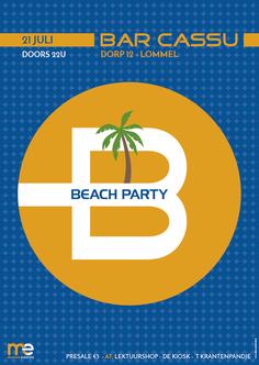 Dirk Van Bun Communicatie & Vormgeving  - Grafisch ontwerp - reclame - publiciteit - Grafisch ontwerp - Lommel - Affiche Beach Party