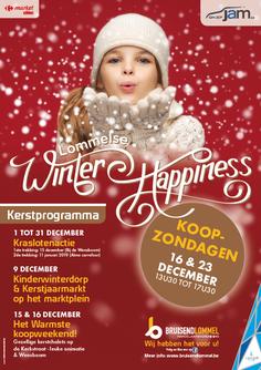 Dirk Van Bun Communicatie & Vormgeving - Grafisch ontwerp - reclame - publiciteit - Grafisch ontwerp - Lommel - Affiche Bruisend Lommel Winter Happiness