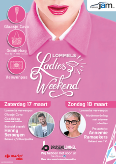 Van Bun Communicatie & Vormgeving - Grafisch ontwerp - Lommel - Affiche Bruisend Lommel - Ladies weekend