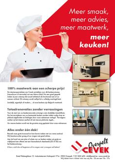 Dirk Van Bun Communicatie & Vormgeving - Grafische vormgeving - Ontwerp - Reclame - Publiciteit - Lommel - Advertentie - Cevek Keukens