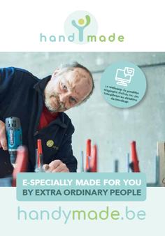 Première face de la brochure de présentation de HandyMade