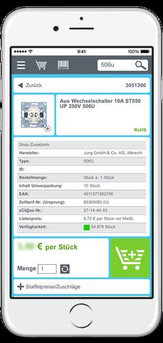 Elektro mobil im Shop online über Smartphone suchen, finden und kaufen