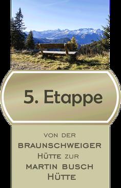 5. Etappe E5 Fernwanderweg von der Braunschweiger Hütte zur Martin Busch Hütte / Bildnachweis © Yvonne Klinec