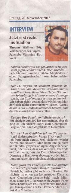 Vilshofener Anzeiger   20. November 2015