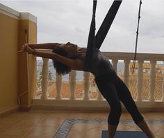 Maryvonne Lascombes yoga aérien Jyoti-yogi