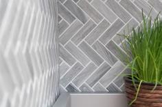mosaico in ceramica a mattoncino effetto pietra