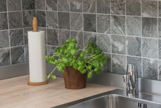 mosaico in ceramica effetto pietra colore grigio