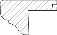 Querschnitt Massivholz Treppenkanteabschluss