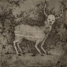 「眠り」 銅版画 雁皮刷り