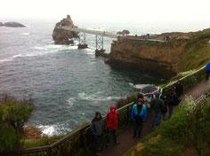 Biarritz et le rocher de la Vierge