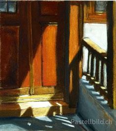 Türe, Leissigen, Pastell, berner oberland, kunst, bilder kaufen